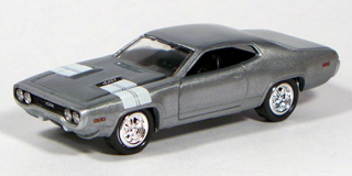 white Forever 64 R10-1971 PLYMOUTH GTX 1:64 Johnny Lightning